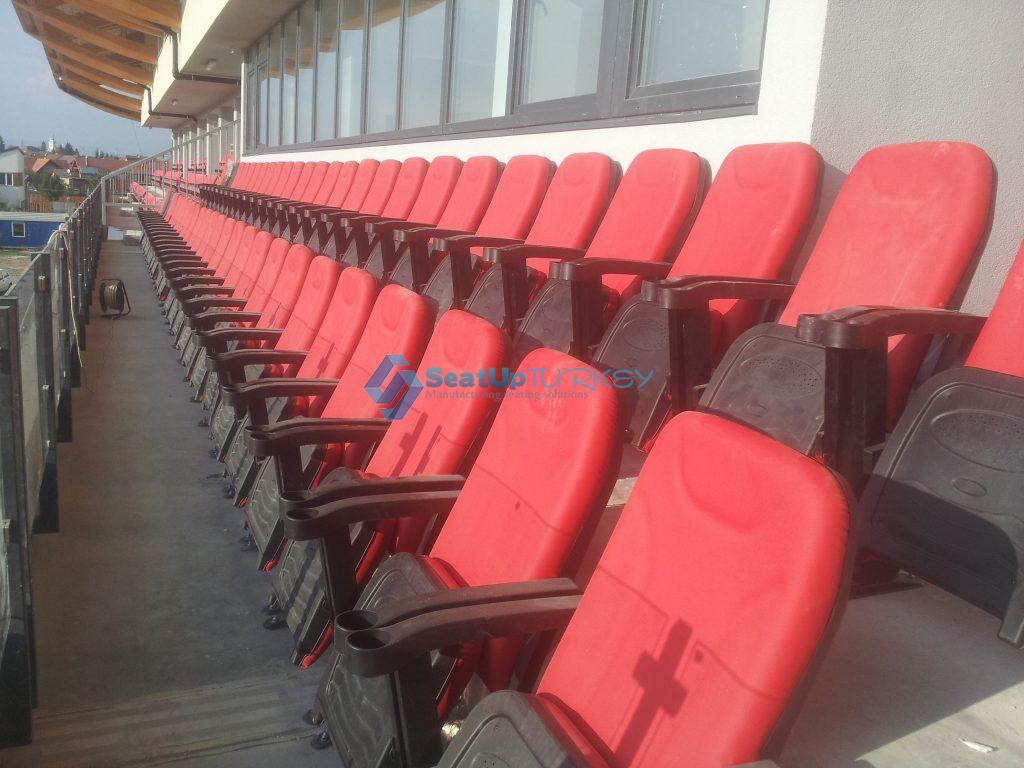 The V seat model is the most multifunctional and most affordable seat2SeatUp Turkey® Application of BS V4 model in Theater hall