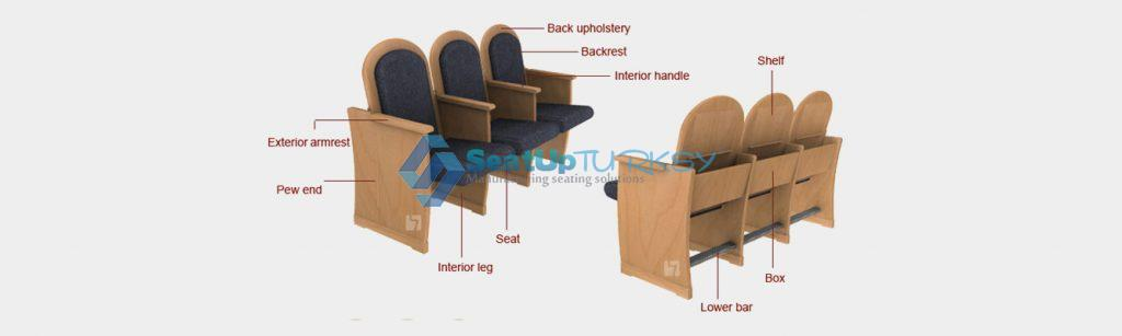 Church seating and worship seating for Synagogues6 by seatupturkey